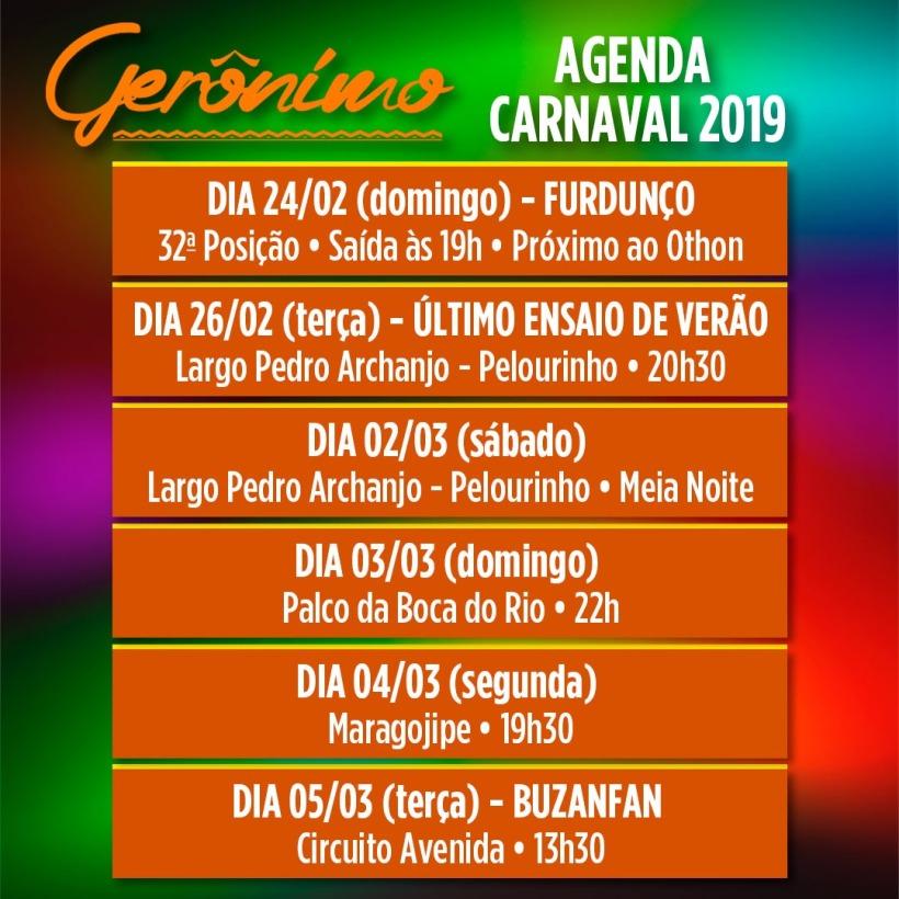 Agenda de carnaval 2019 de Gerônimo: Carnaval de rua em Salvador, Bahia; Pelourinho e Maragojipe Já é carnaval cidade! Acorda para ver e vem com a gente. #agendadecarnaval2019 #geronimosantana #carnaval2019 #foliaderua2019 #folia #carnavaldesalvador #carnavaldaBahia